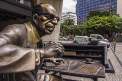 Manoel Bandeira statue - Rio de Janeiro Royalty Free Stock Photos