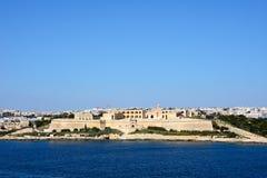 Manoel Fort, Malta. View of Manoel Fort on Manoel Island seen from Valletta with Sleima to the rear, Valletta, Malta, Europe Stock Photography