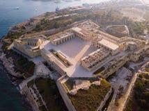Manoel island fortress near Valletta on Malta. Beautiful aerial view of the Manoel island fortress near Valletta on Malta Royalty Free Stock Photos