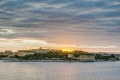 Manoel Island in front of Valletta, Malta Stock Photography