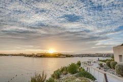 Manoel Island in front of Valletta, Malta. Manoel Island in Gzira's Marsamxett Harbour in front of Valletta, Malta Stock Photos