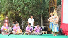 Manohra Dance Classical Thai tune form of folk-dance in the south of Thailand stock video