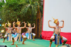 Manohra tana melodii Klasyczna Tajlandzka forma taniec w południe Tajlandia Obraz Royalty Free