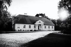 Manoir aristocratique en Pologne Image stock