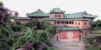 Manoir chinois d'héritage dans la vue de panorama image libre de droits
