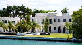 Manoir de luxe à Miami Photo stock