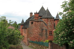 Manoir de Vassinhac, Collonges-La-Rouge (Frankreich) Stockbilder