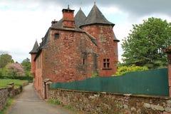 Manoir DE Vassinhac, collonges-La-Rouge (Frankrijk) Royalty-vrije Stock Afbeeldingen