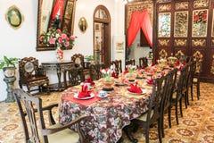 Manoir historique de Pinang Peranakan Images stock