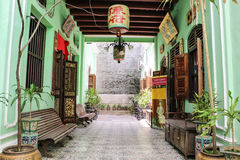 Manoir historique de Pinang Peranakan Images libres de droits