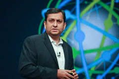 Manoj Saxena delivers an address to IBM Lotusphere Royalty Free Stock Images