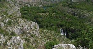 Manojlovac Waterfall, Krka Natural Park, Near Sibenik in Damaltia, Croatia, Real Time stock video footage
