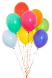 Manojo colorido de los globos aislado en blanco Foto de archivo libre de regalías