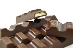 Barras de chocolate Fotos de archivo