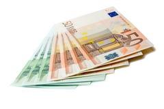 Manojo de billetes de banco euro Foto de archivo