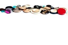 Botones en el fondo blanco Foto de archivo libre de regalías