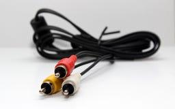 Manojo de cables del chinch Foto de archivo libre de regalías