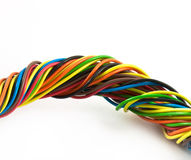 Manojo de cables del color Fotos de archivo