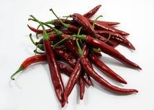 Manojo de chiles rojos Imagen de archivo