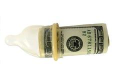 Manojo de cientos cuentas de dólar Foto de archivo