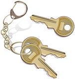 Manojo de claves Imagen de archivo libre de regalías
