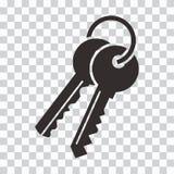 Manojo de claves Icono negro Ilustraci?n del vector ilustración del vector