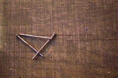 Manojo de clavos oxidados Foto de archivo libre de regalías