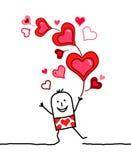 Manojo de corazones Foto de archivo libre de regalías