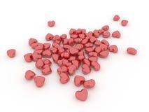 Manojo de corazones rojos Fotografía de archivo