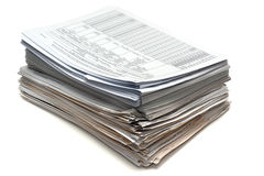Manojo de documentos Imágenes de archivo libres de regalías