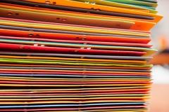 Manojo de documentos de la oficina imagen de archivo libre de regalías