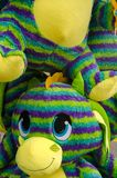 Manojo de Dragon Stuffed Animals imagen de archivo libre de regalías