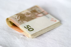 Manojo de euros Fotografía de archivo libre de regalías