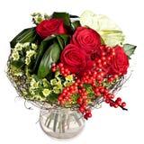 Manojo de flores en florero Imagenes de archivo