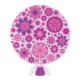 Manojo de flores estilizadas de la lila Imagen de archivo