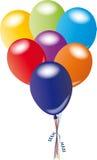 Manojo de globos Imágenes de archivo libres de regalías