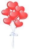 Manojo de globos del corazón Imágenes de archivo libres de regalías