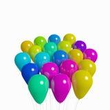 Manojo de globos no transparantes Imagen de archivo libre de regalías