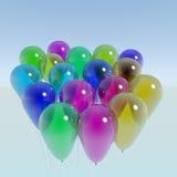 Manojo de globos transparentes Imágenes de archivo libres de regalías