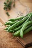 Manojo de habichuelas verdes Imagen de archivo