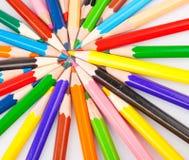 Manojo de lápices coloreados Imágenes de archivo libres de regalías