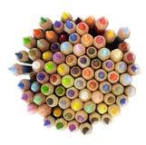 Manojo de lápices coloreados Fotografía de archivo