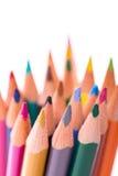 Manojo de lápices del color en blanco Fotos de archivo