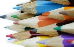 Manojo de lápices multicolores Imagen de archivo libre de regalías