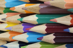Manojo de lápices multicolores Fotografía de archivo