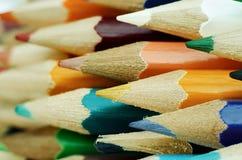 Manojo de lápices multicolores Fotografía de archivo libre de regalías