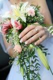 Manojo de la boda de flores Foto de archivo libre de regalías