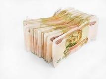 Manojo de las rublos rusas Foto de archivo libre de regalías