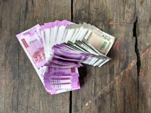 Manojo de nueva moneda india Fotografía de archivo libre de regalías