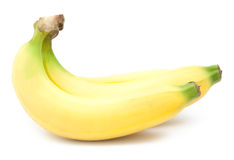 Manojo de plátanos aislados Imagenes de archivo